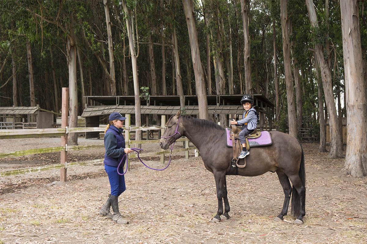 horse ride california coast
