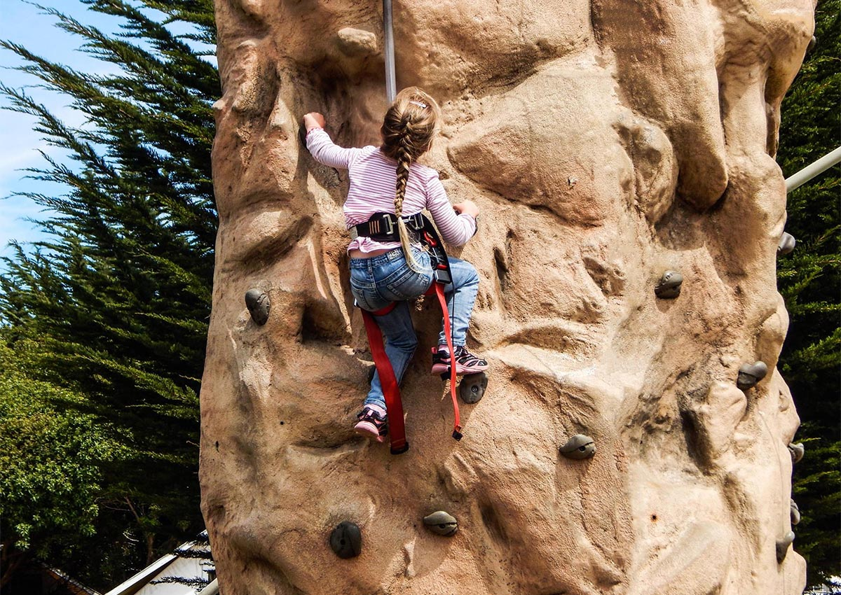 kids camp rock climbing